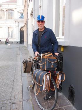 Tom loaded up to leave Bruges