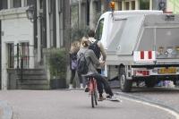 Amsterdam couple on bike