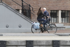 Amsterdam girl on bike