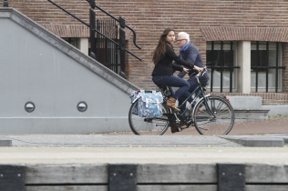 Amsterdam girl on bike