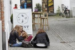 Belgian girls sharing ice cream