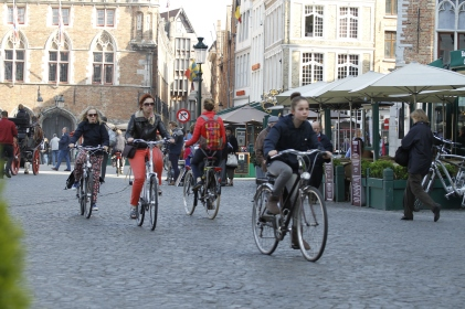 colorful Belgian bikers